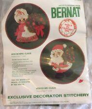 "Vintage 1976 Bernat Artists Original Crewel Kit New NOS Santa Clause 7"" Round"