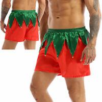 Men's Shorts Santa Claus Christmas Costume Short Pants Bottoms Boxer Panties