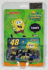 JIMMIE JOHNSON NASCAR ACTION 1:64 STOCK CAR SPONGEBOB SQUAREPANTS LOWES
