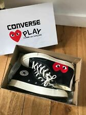 Converse x Comme des Garcons CDG Play All Star Chuck Taylor 70 Noir Rouge UK 6