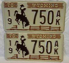 Pair of 1978 Wyoming License Plates
