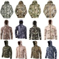 Waterproof Tactical Military Soft Shell Men Jacket Coat Army Windbreaker Outdoor