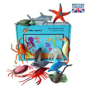 Sea Creature Toy Plastic Animal Figures set of 12 - from UK importer, ebay