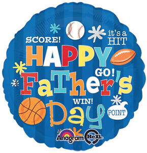 "FATHER'S DAY BALLOON 18"" ROUND FATHER'S DAY SPORTS FAN ANAGRAM FOIL BALLOON"