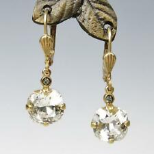 La Vie Parisienne Catherine Popesco 14K GP Small Crystal Earrings in Clear