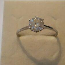 Einkaräter 1,38 ct Diamant Brillant Solitär 750 er Weissgold Ring