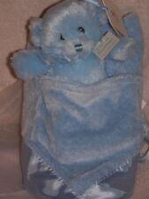 New GUND Buddyluvs MY FIRST TEDDY Bear Rattle & Security Blanket Set in Pouch