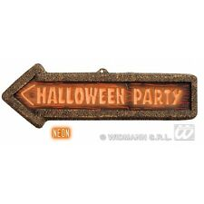 3D NEON HALLOWEEN PARTY SIGNS 56cm x 17cm Decoration for Trick Or Treat Party