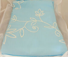 DOUBLE EMBROIDERED QUILT COVER NEW COTTON BLUE/WHITE