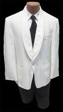 Size 40 Long  Classic White Shawl Lapel Dinner Jacket Formal Masonic Gala 40L