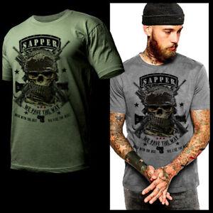 Sapper T-Shirt Combat Engineer Iraq Afghanistan War Veteran Military Combat Tee