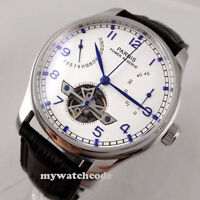 43mm parnis white dial power reserve date ST2505 automatic mens wrist watch P13