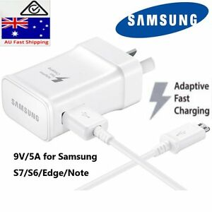 Genuine samsung 9V 5V rapid adaptive wall charger usb cable for S6 S7 egde Note4