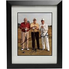 Arnold Palmer Jack Nicklaus Gary Player Autographed 11x14 Photo Reprint w/ Frame
