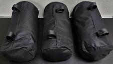 3 Fahrradtaschen / Gepäcktaschen schwarz Gepäck Rollen - mittelgroß