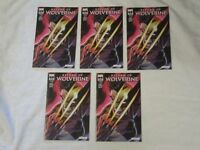 Marvel NYCC 2018 Variant Cover GID Return Wolverine #1 Lot of 5 j scott Campbell