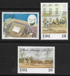 STAMPS-IRELAND. 1986. Birth Bicentenaries Set. SG: 651/53. Mint Never Hinged.