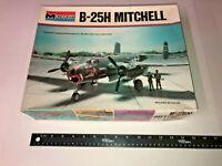 1977 Monogram 5500-0100 1/48 B-25H Mitchell Plastic Military Airplane Model Kit