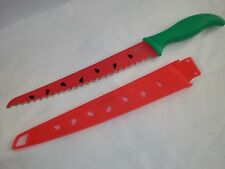 LARGE WATERMELON KNIFE CUTTING KITCHEN TOOL GOOD COOK RED GREEN AWESOME