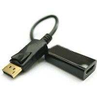 DP Displayport Male zu HDMI Female KabelKonverter Adapter for PC HP/DELL Schwarz