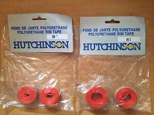 """NOS Pair (2) Hutchinson Polyurethane Rim Tape Strips 26"""" 650C Road Tour MTB NIB"""