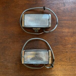 1974-83 Porsche 911 Bosch Fog Lamp Light PAIR w/ Chrome Surrohnd LE1203L