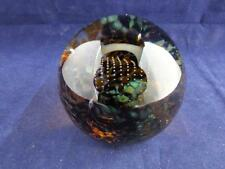 Caithness Glass Paperweight Swirly Whirly in Gold.
