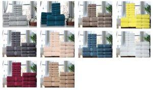 Towel Set 12 Pc Set 100% Cotton 600GSM 2 Bath 4 hand 6 wash Towels Excel Hometex