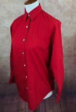 Lauren Ralph Lauren Long Sleeve Button Front 100% Cotton Red Shirt Women's 4