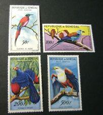 Senegal Stamp Scott# C26-C28,C30  Birds in Natural Colors 1960-63  MH C524