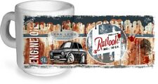 KOOLART Retro Aged OIL CAN Design & Mk1 Ford Escort RS Mexico CERAMIC MUG Gift