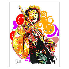 "Jimi Hendrix Guitar Woodstock Purple Haze 11x14"" Music Art Print Poster"