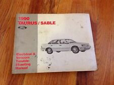 1990 Ford Taurus Mercury Sable Electrical Vacuum Dealer Troubleshooting Manual