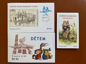 Tschechische Republik 🇨🇿 2011 Markenheftchen MiNr. 666/684/687, postfrisch