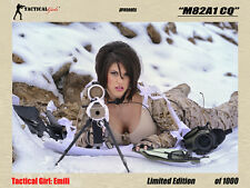 Tactical Girls Emili M82A1 CQ Signed Poster LTD Edition USMC, Army, Sniper