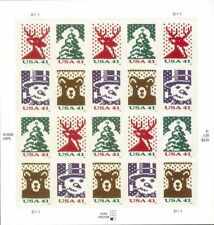 US Scott 4207-4210 41c CHRISTMAS Stamp sheet of 20 HOLIDAY KNITS 2006 PO fresh