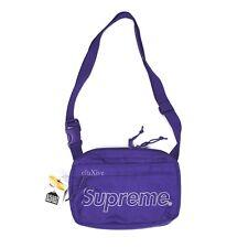 NWT Supreme Purple Reflective Box Logo Print Small Shoulder Bag FW18 AUTHENTIC