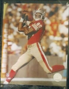 49ers Jerry Rice 15X12 Plaque w/Gold Trim Engraved Name Plate & Stats