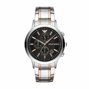 Emporio Armani AR11165 Two Colour Dial Stainless Steel Men's Watch