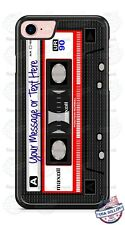 RETRO CASSETTE RED TAPE WITH TEXT & NAME PHONE CASE COVER FOR iPHONE SAMSUNG etc