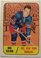 ROD SEILING (NEW YORK RANGERS) 1967-68 TOPPS HOCKEY CARD # 27