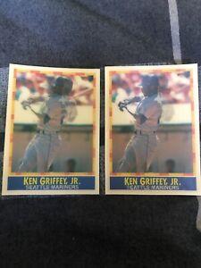 1990  KEN GRIFFEY JR. - SPORTFLICS Baseball Card # 7 - SEATTLE MARINERS 2 Cards