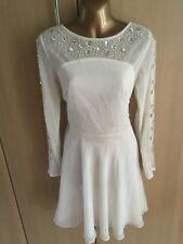 BNWT fab ASOS Ivory jewel & Bead embellished dress size 12