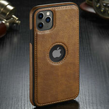 For iPhone 11 SE 7 8 Plus X SLIM Luxury Leather Back Ultra Thin Soft  Case Cover