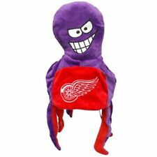 Detroit Red Wings Team Logo - Octopus Mascot Dangle Hat - NEW NHL soft plush