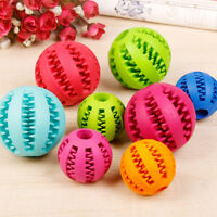 Rubber Ball Toy Chew Treat Dental Teething Cleaning for Pet Dog Puppy Training
