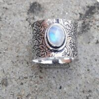 Spinner Ring 925 Sterling  Silver Band Moonstone Handmade Ring  All Size c-45