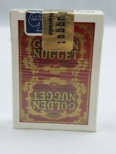 Golden Nugget vintage Las Vegas casino red playing cards gold Seal see pics