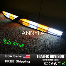 32LED EMERGENCY STROBE WARNING VISOR LED LIGHT SPLIT MOUNT DECK DASH LIGHTBAR