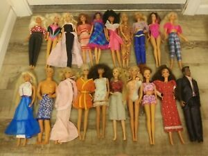 Lot of 20 -1980's - 1990's Barbie Dolls #6 ALL DRESSED